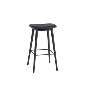 Fiber Bar Stool - Wood Base - Upholstered