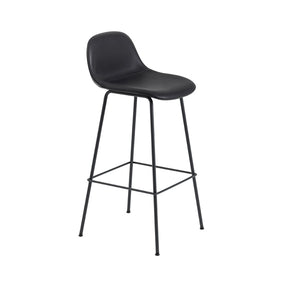Fiber Bar Stool w/Backrest - Tube Base - Upholstered