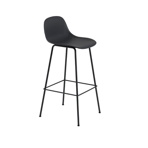Fiber Bar Stool w/Backrest - Tube Base