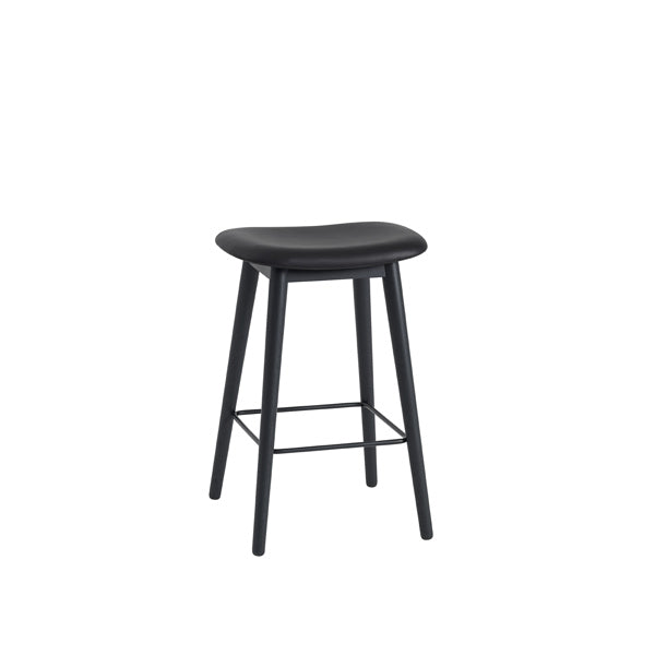 Fiber Counter Stool - Wood Base - Upholstered
