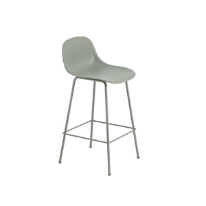 Fiber Counter Stool w/Backrest - Tube Base