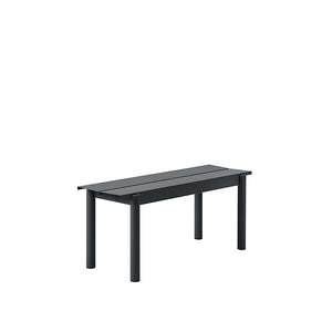 Linear Outdoor Steel Benches - 2 Sizes