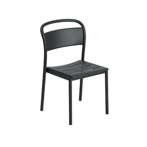Linear Steel Outdoor Stacking Dining Chair