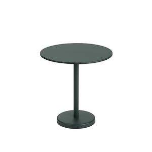 Linear Steel Outdoor Round Cafe Table