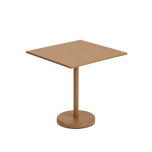 Linear Steel Outdoor Square Cafe Table