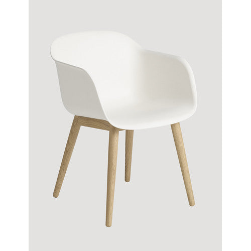 Fiber Dining Arm Chair - Wood Base