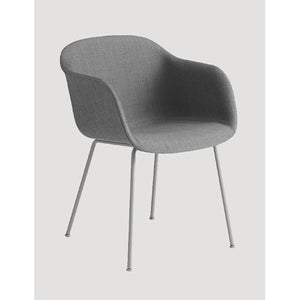 Fiber Dining Arm Chair - Tube Base - Upholstered