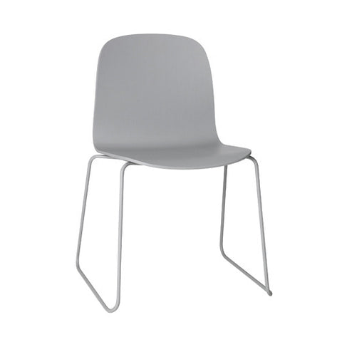 Visu Dining Chair - Sled Base - Wood Shell
