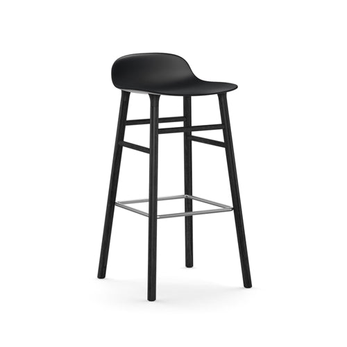 Form Bar Stool - Black Oak Legs