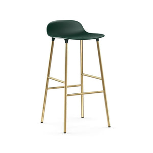 Form Bar Stool - Brass Legs