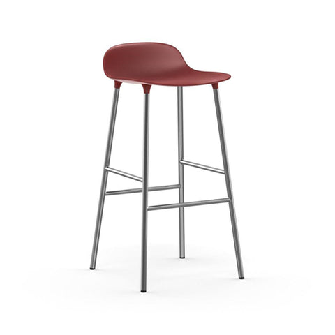 Form Bar Stool - Chrome Legs