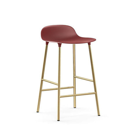 Form Counter Stool - Brass Legs