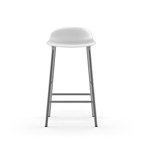 Form Counter Stool - Chrome Legs