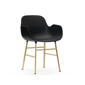 Form Dining Arm Chair - Brass Legs