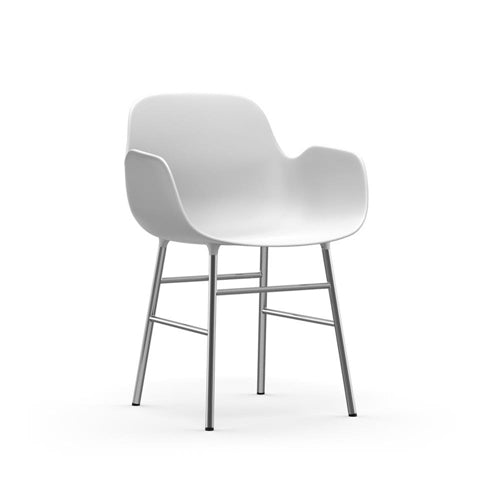 Form Dining Arm Chair - Chrome Legs