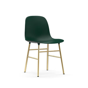 Form Dining Chair - Brass Legs