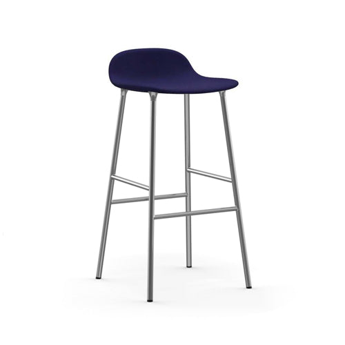 Form Bar Upholstered Stool - Chrome Legs