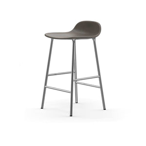 Form Counter Upholstered Stool - Chrome Legs