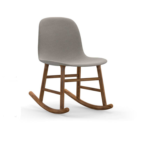 Form Rocking Upholstered Chair - Walnut Legs