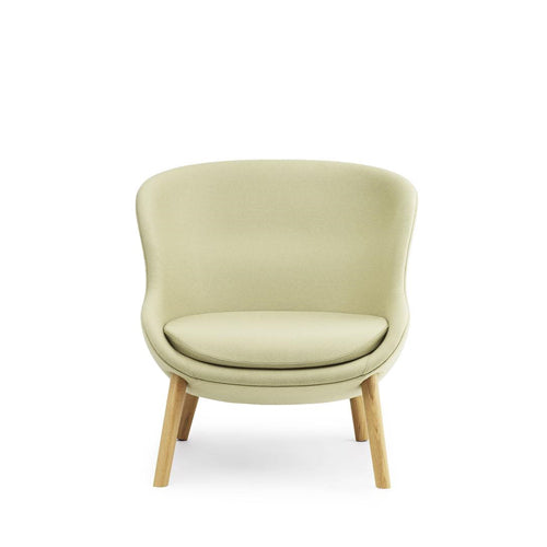 Hyg Low Back Lounge Chair - Wood Legs