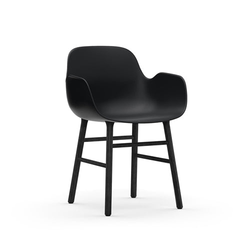 Form Dining Arm Chair - Black Oak Legs