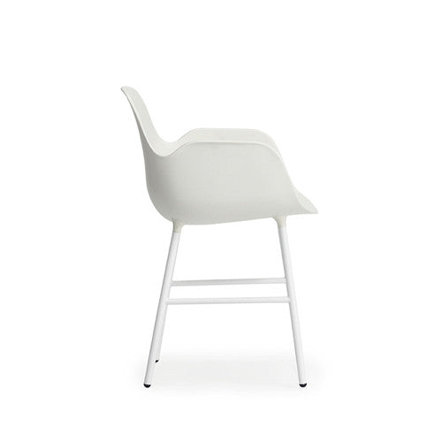 Form Dining Arm Chair - Steel Legs