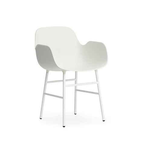 Form Arm Dining Chair - Steel Legs