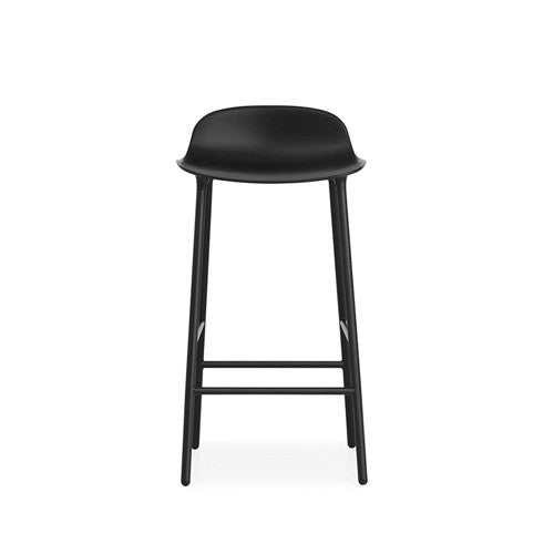 Form Bar Stool - Steel Legs