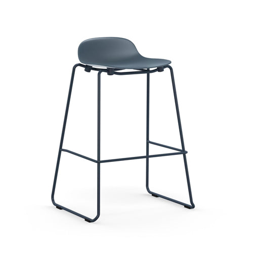 Form Stacking Bar Stool - Steel Legs