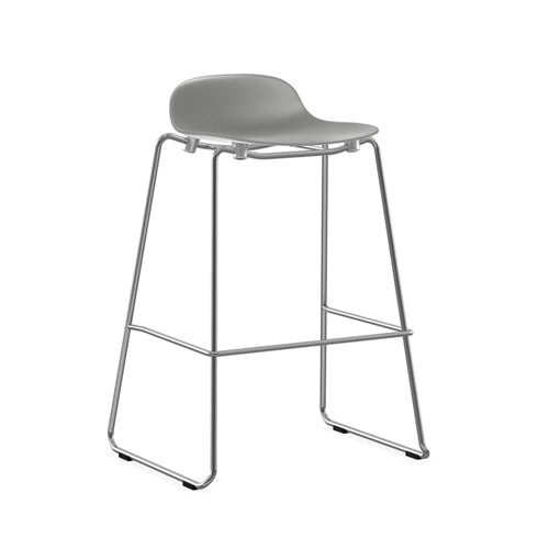 Form Stacking Bar Stool - Chrome Legs