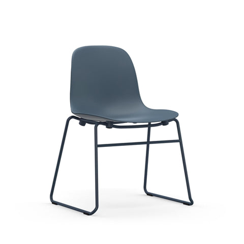 Form Stacking Dining Chair - Steel Legs
