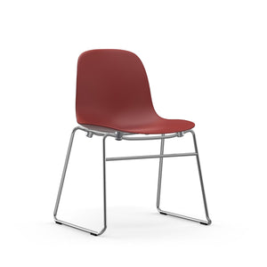Form Stacking Dining Chair - Chrome Legs