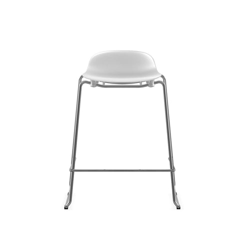 Form Stacking Counter Stool - Chrome Legs