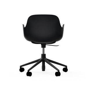 Form Swivel Arm Chair with Castors