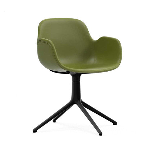 Form Swivel Arm Chair - Upholstered