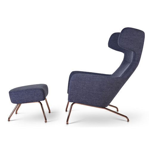 Superieur Havana Wing Chair And Footstool