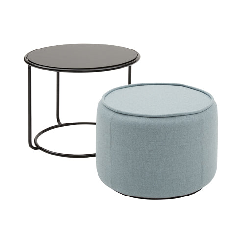 Tom Pouf + Side Table
