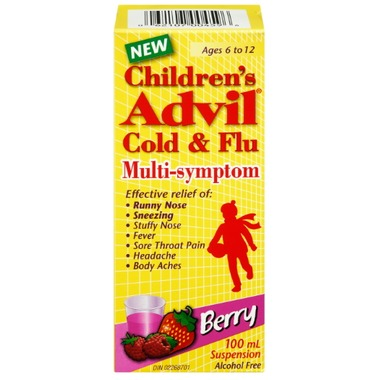 Children's Advil Cold and Flu Multi-Symptom Berry Flavoured