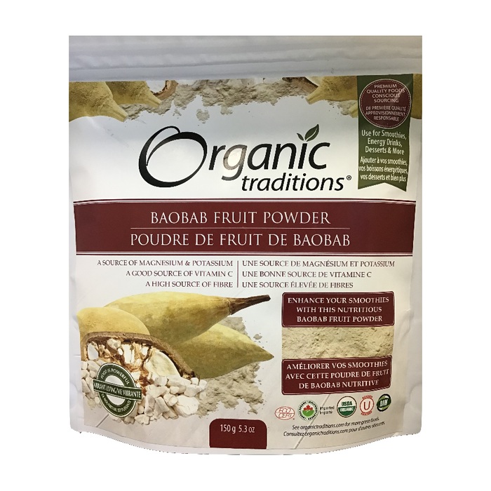 Baobab Fruit Powder 150g Organic Traditions