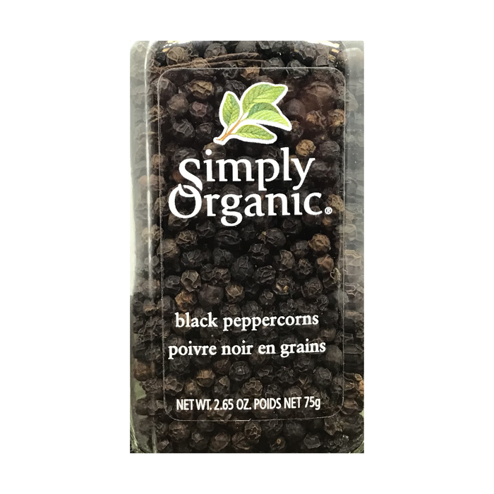 Black Peppercorns 75g Simply Organic