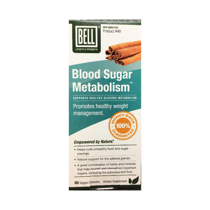 Blood Sugar Metabolism 60 Capsules Bell Lifestyle Products
