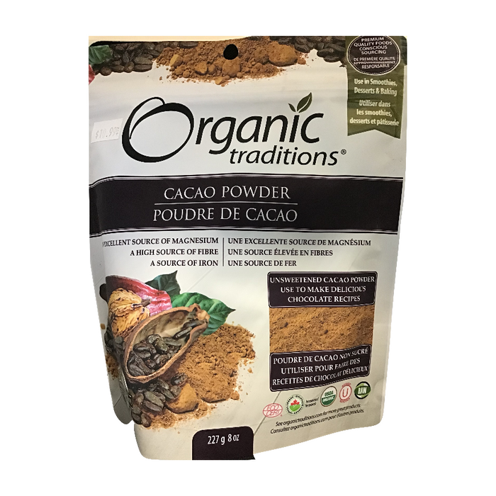 Cacao Powder 227g Organic Traditions