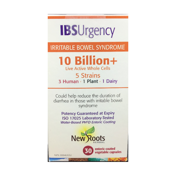 IBS Urgency (Irritable Bowel Syndrome) 30 Capsules New Roots Herbal