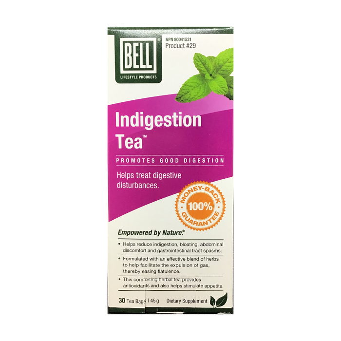 Indigestion Tea 30 Tea Bags Bell Lifestyle Products
