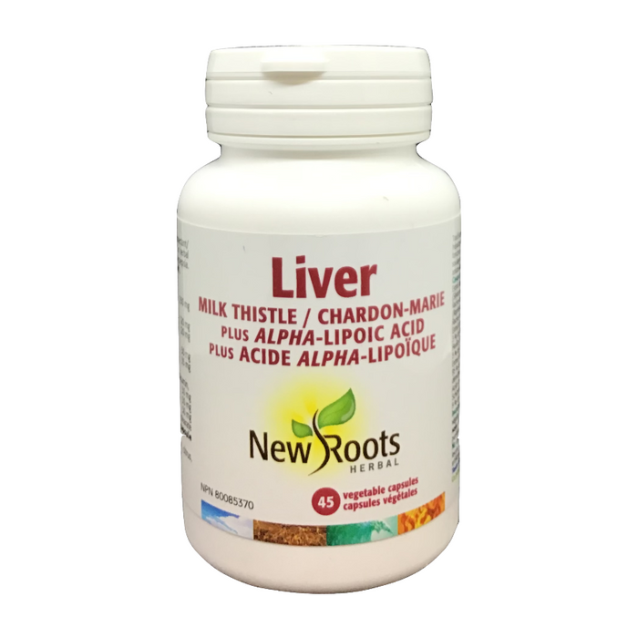 Liver Milk Thistle + ALA New Roots Herbal