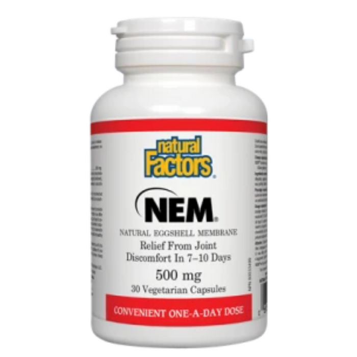 NEM (Natural Eggshell Membrane) 500mg 30 Capsules Natural Factors