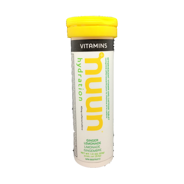 Nuun Hydration with Caffeine Ginger Lemonade Flavour