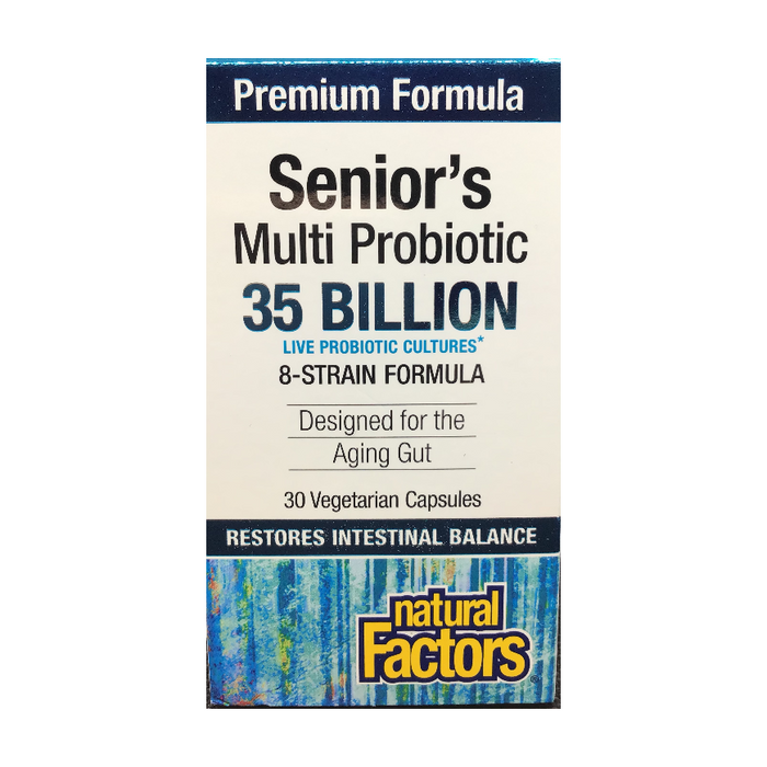 Senior's Multi Probiotic 30 Capsules Natural Factors