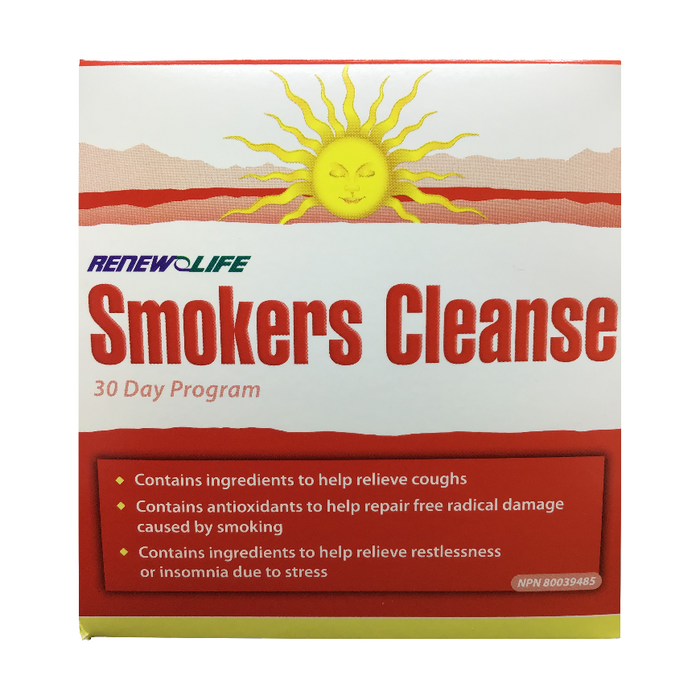 Smoker's Cleanse 30 Day Program Renew Life