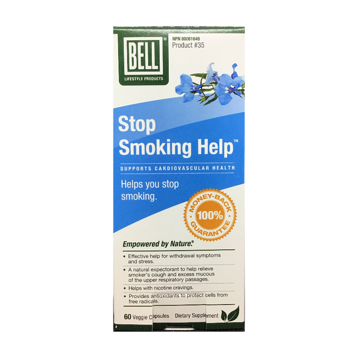 Stop Smoking Help 60 Capsules Bell Lifestyle Products